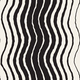Seamless Wavy Hand Drawn Stripes Pattern. Repeating Vector Texture. Stock Photos