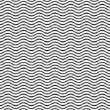 Seamless wavy line pattern Stock Photo