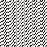 Seamless wavy line pattern Royalty Free Stock Image