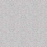Seamless wavy line pattern Stock Images