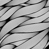 Seamless wavy line pattern. Royalty Free Stock Photography