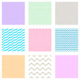 Seamless wavy line patterns Stock Image