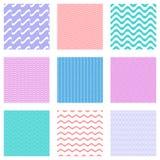 Seamless wavy line patterns Royalty Free Stock Photo
