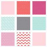 Seamless wavy line patterns Royalty Free Stock Photography