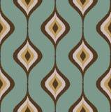 Seamless wavy ornament wallpaper Stock Image