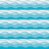Seamless wavy pattern Royalty Free Stock Photo