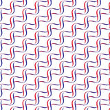 Seamless wavy vector pattern background Royalty Free Stock Image