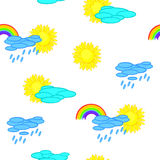 Seamless weather cartoon background Royalty Free Stock Photo
