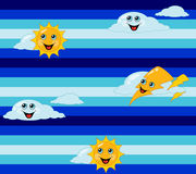 Seamless weather children's background. Vector illustration Stock Photography