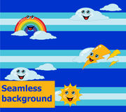 Seamless weather children's background Stock Images