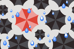 Seamless weather pattern with black umbrellas Royalty Free Stock Images