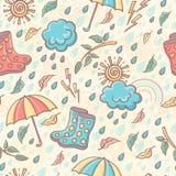 Seamless weather pattern. Stock Image