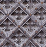 Seamless weathered carving wood door texture Royalty Free Stock Image