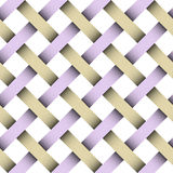 Seamless weaving pattern with clipping patch. Included royalty free illustration