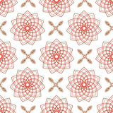 Seamless of weaving pink flowers and four angle flowers Stock Photos