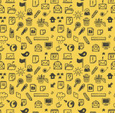 Seamless web icons pattern vector illustration