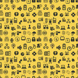 Seamless web icons pattern. Vector illustration Royalty Free Stock Image