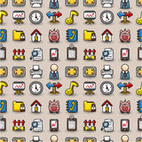 Seamless web icons pattern Stock Photo