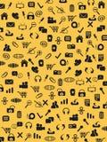 Seamless web icons pattern Stock Image