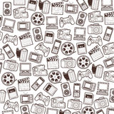 Seamless web icons pattern Stock Photography