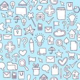 Seamless web pattern Royalty Free Stock Images