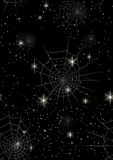 Seamless webs and stars. Repeating pattern of stars and webs Stock Images