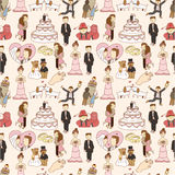 Seamless wedding pattern Stock Image