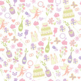 Seamless wedding pattern Royalty Free Stock Image