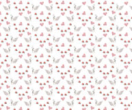Seamless wedding pattern with swans and hearts Royalty Free Stock Photography