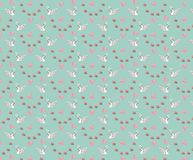 Seamless wedding pattern with swans and hearts Stock Photography