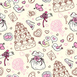 Seamless wedding patterns. Royalty Free Stock Photography