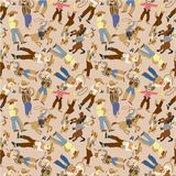 Seamless west cowboy pattern Royalty Free Stock Photography