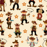 Seamless west cowboy pattern Royalty Free Stock Images