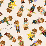 Seamless west cowboy pattern Royalty Free Stock Photos