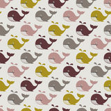 Seamless whales pattern Royalty Free Stock Photos