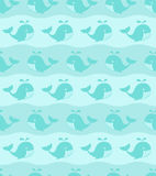 Seamless whales pattern Stock Photo