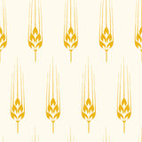 Seamless wheat, barley or rye background pattern. vector. Seamless wheat, barley or rye background pattern, abstract agricultural yellow ornament with crop Stock Photo