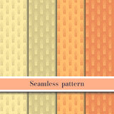 Seamless wheat pattern eps10 Stock Image