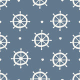 Seamless wheel pattern. Seamless pattern. ship wheel with heart Royalty Free Stock Images