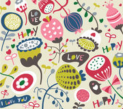 Seamless whimsical background Royalty Free Stock Images