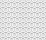 Seamless white abstract  background rings. Embossed surface,  3D  vector EPS8 Royalty Free Stock Photography