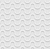 Seamless white background, wavy lines, embossed surface, 3D effect Stock Images