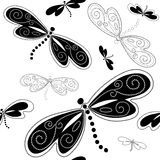 Seamless white-black pattern Royalty Free Stock Image
