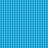 Seamless  white black polka dots pattern on neon blue background Royalty Free Stock Photos