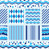 Seamless white-blue wave pattern Royalty Free Stock Photography