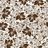 Seamless white-brown floral pattern Royalty Free Stock Image