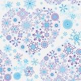 Seamless White Christmas Pattern Royalty Free Stock Photography