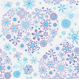 Seamless white christmas pattern royalty free illustration