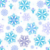 Seamless white christmas wallpaper Royalty Free Stock Image