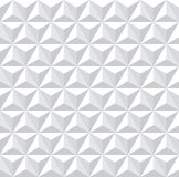 Seamless white 3d hexagons pattern. Stock Images